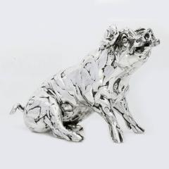 Lucy Kinsella 'Seated Pig' Sterling Silver Sculpture