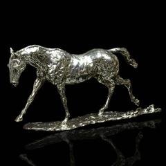 Lucy Kinsella 'Cantering Horse' sterling silver sculpture