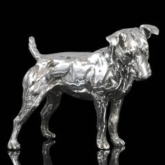 Lucy Kinsella 'Patterdale Terrier' in Sterling silver, Silver sculpture