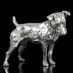 'Patterdale Terrier' Sterling Silver Sculpture