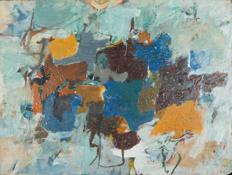 Henry Botkin Abstract Painting - Double Green