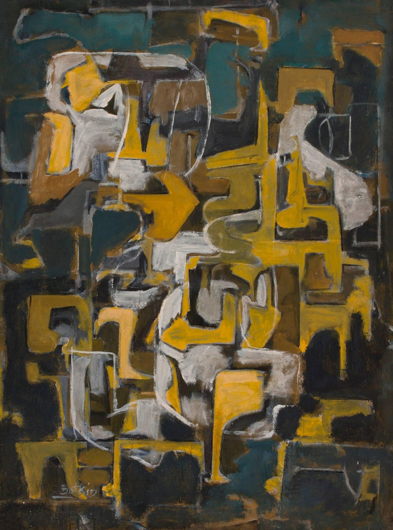 Henry Botkin Abstract Painting - Enigma