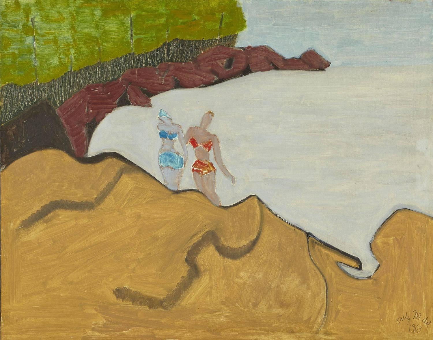 Sally Michel-Avery - [Bathers on the Rocks] For Sale at ... Earth Painting Oil
