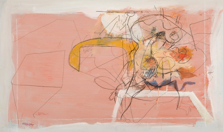 Henry Botkin Abstract Painting - Struggle (Study)