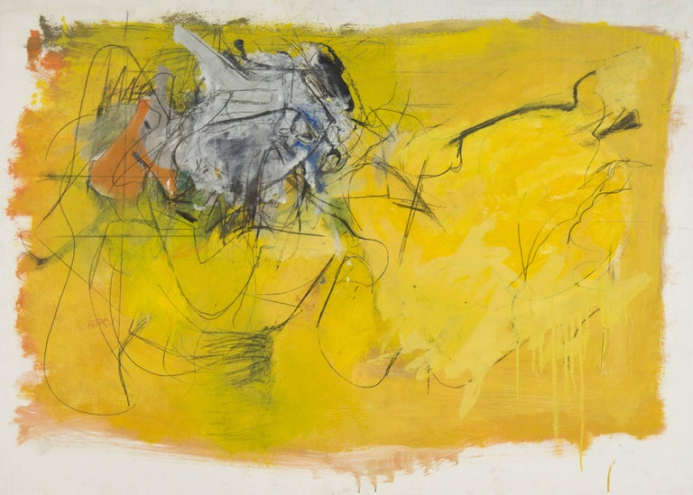 Henry Botkin Abstract Painting - [Bull Series]