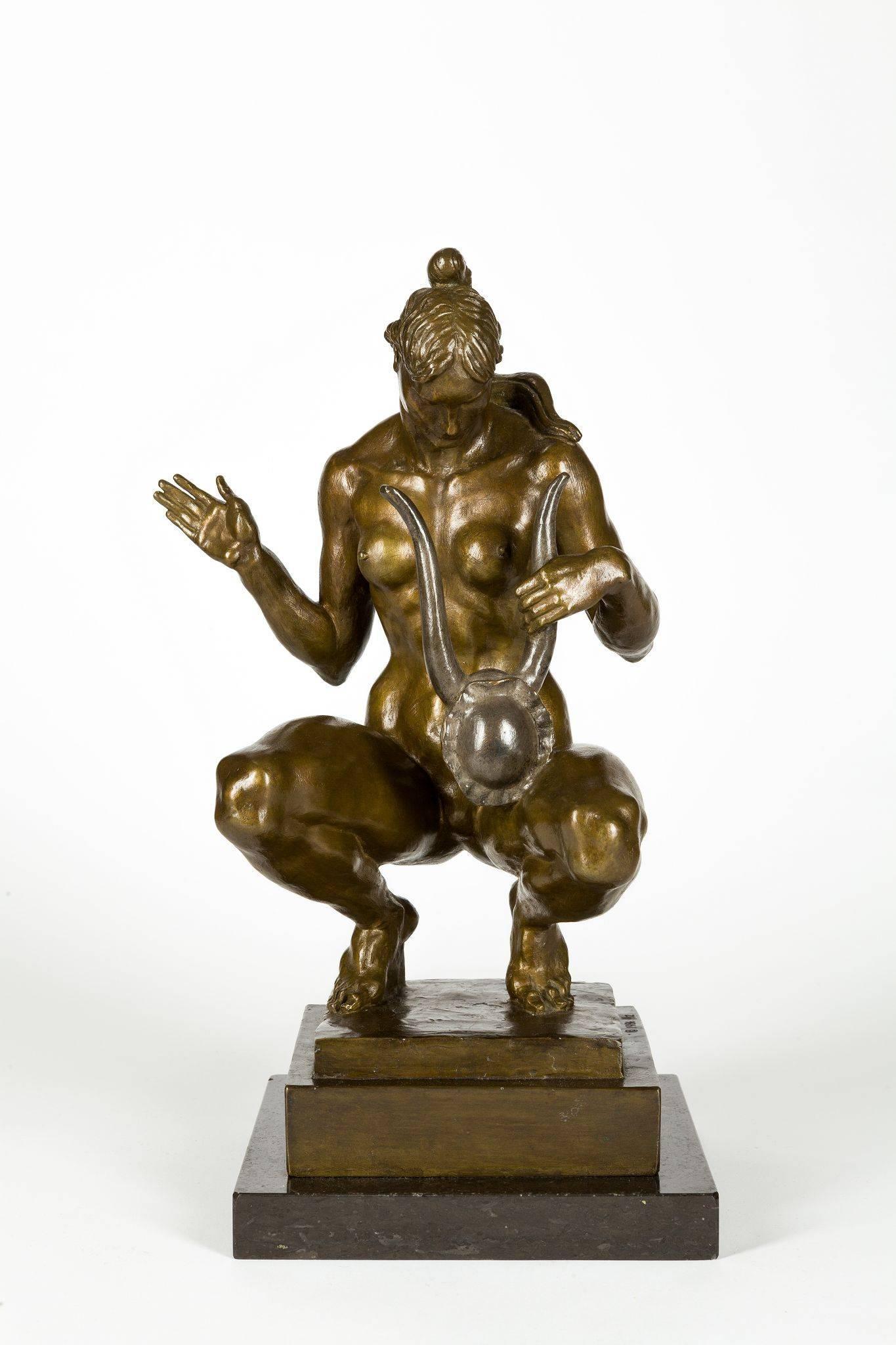 Donald De Lue - Chanson d\'Amour, Bronze Sculpture For Sale at 1stdibs