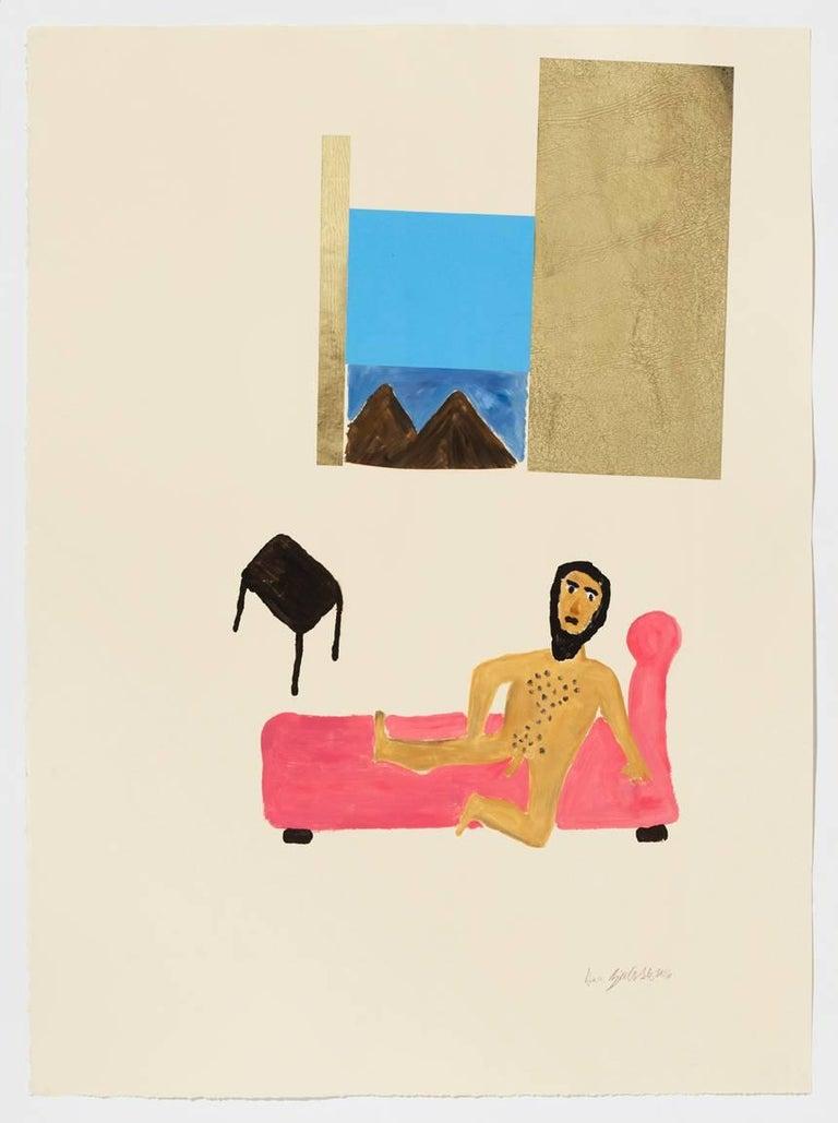 Sara Zielinski Figurative Print - Lounging Moses