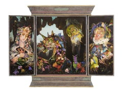 The triptych of the golden fleece (the back of the panels)