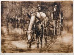 A horse-drawn coach