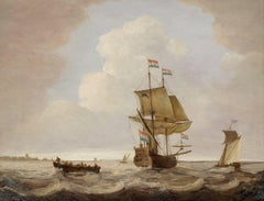 Sailing boats off the coast of Ostende