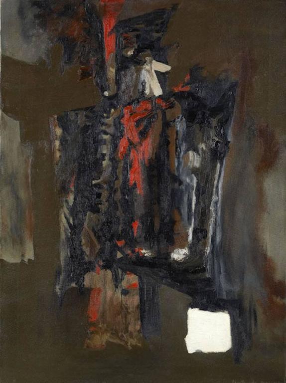 Gertrude Greene Composition Orange Painting At 1stdibs