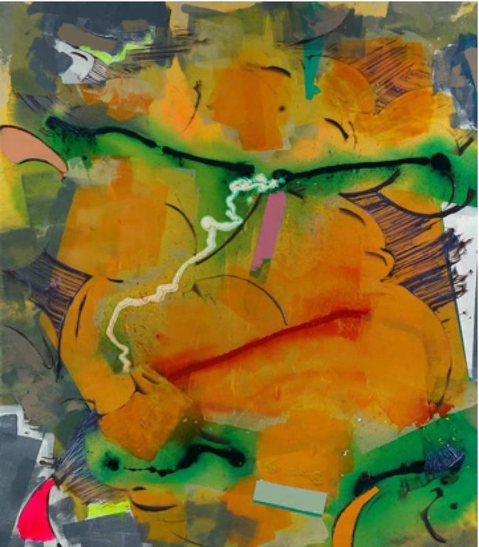 Walter Darby Bannard Abstract Painting - Hotbed (15-19A)