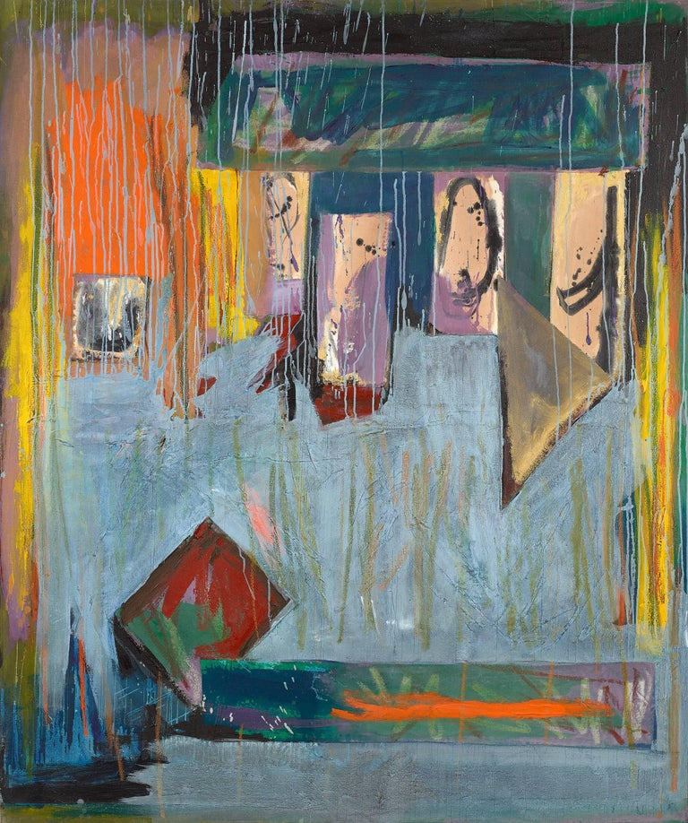 Ann Purcell Abstract Painting - Morning Market