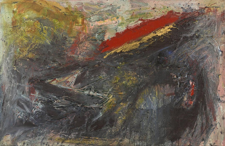Ann Purcell Abstract Painting - Buried Treasure (Kali Poem #66)
