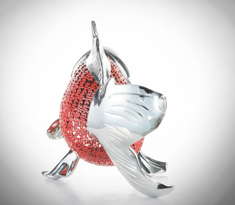 Hiro ando nishikigoi stainless steel sculpture for for Nishikigoi for sale