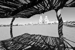Mission San Xavier, 2011, Black & White Archival Pigment Print