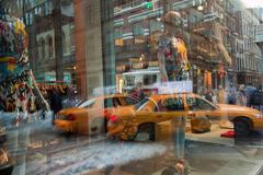 Fire Reflection, 2011 New York City Photograph