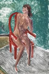 Nude Sunning on Porch