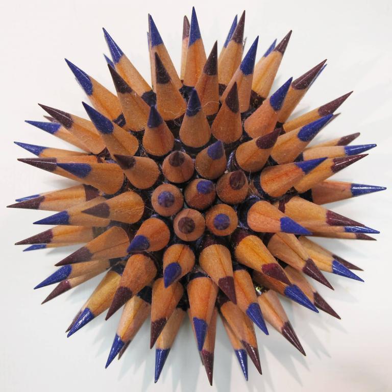 Indigo Sea Urchin - Sculpture by Jennifer Maestre