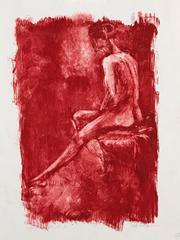 Sitting Nude in Burnt Sienna