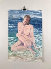 Nude Sitting on the Beach