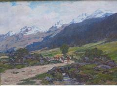 Mountain Landscape with Cows