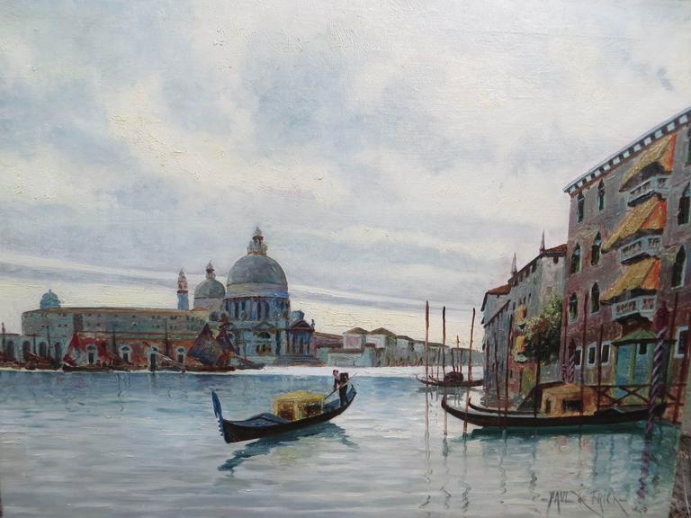Venice Grand Canal - Painting by PAUL DE FRICK