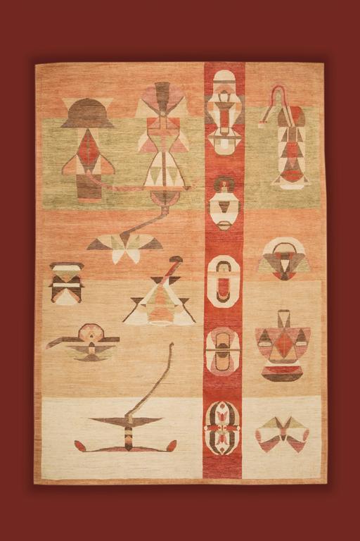 ROMAN -  handmade wool rug creation