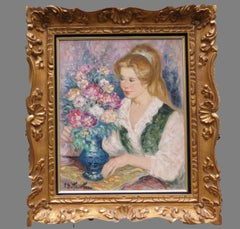 Portrait of a Young Woman with a Bouquet
