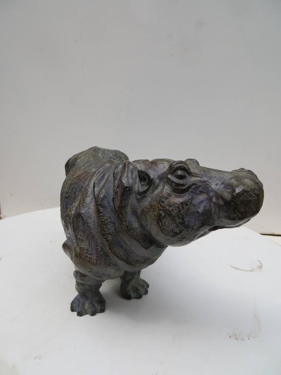 Sophie martin bronze hippopotame bronze sculpture for for Hippo table for sale