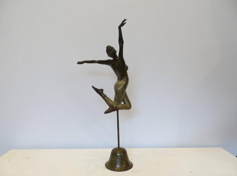 Irina - Gold Figurative Sculpture by Patrick Brun