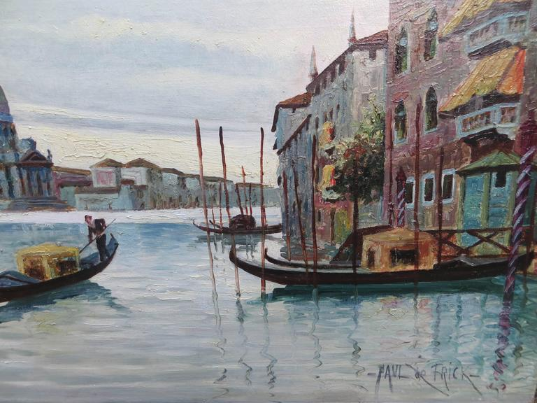 Venice Grand Canal - Impressionist Painting by PAUL DE FRICK
