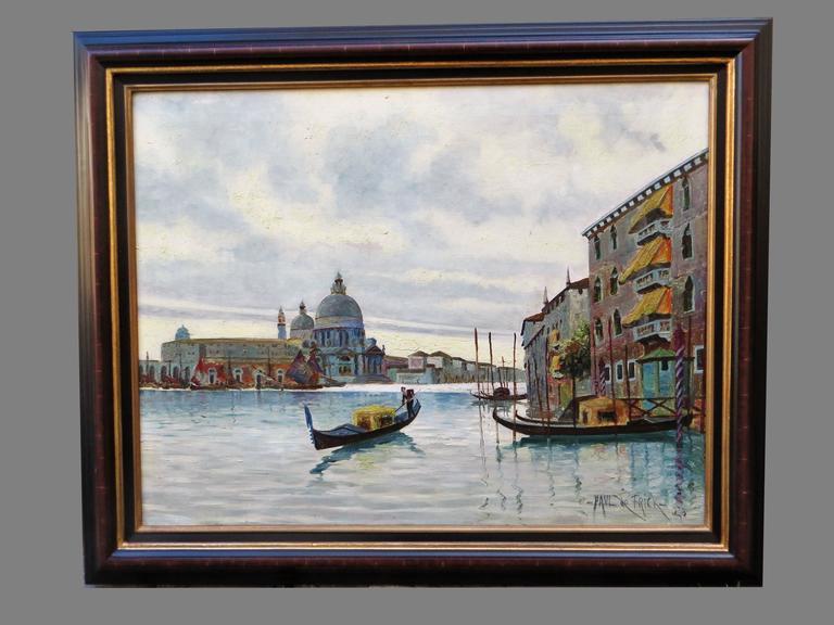 PAUL DE FRICK Landscape Painting - Venice Grand Canal