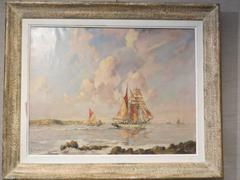 Sail Boats in Brittany by Ernest Vauthrin