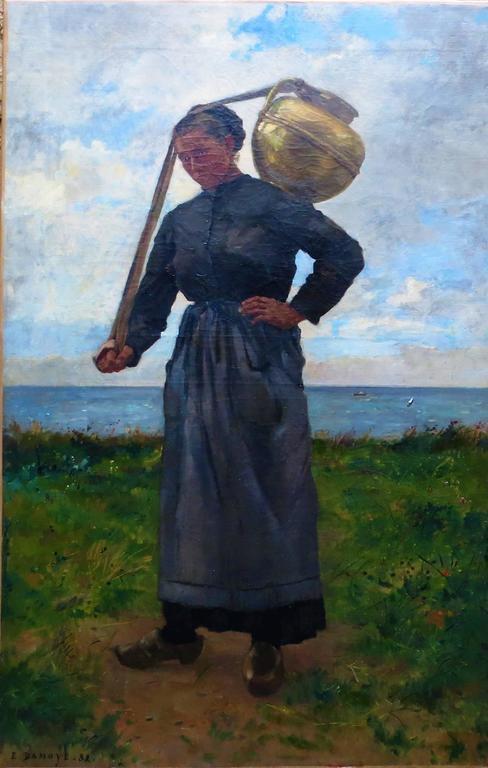 Water carrier by Pierre-Emmanuel DAMOYE - Painting by Pierre Emmanuel DAMOYE