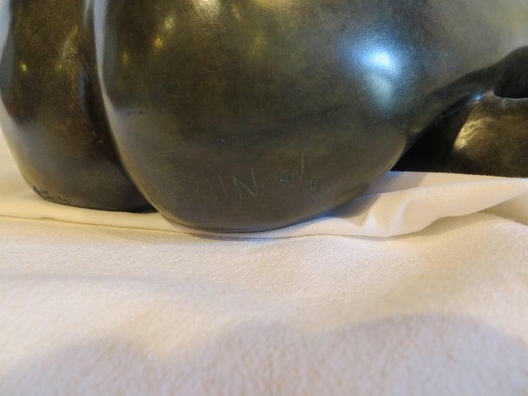 Sabrina - Gold Figurative Sculpture by Patrick Brun