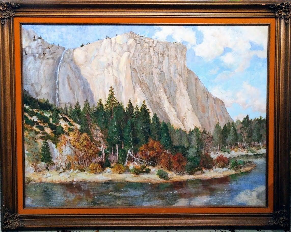 Yosemite Mount Painting by Sokol