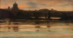 Sunset on Rome - circa 1890