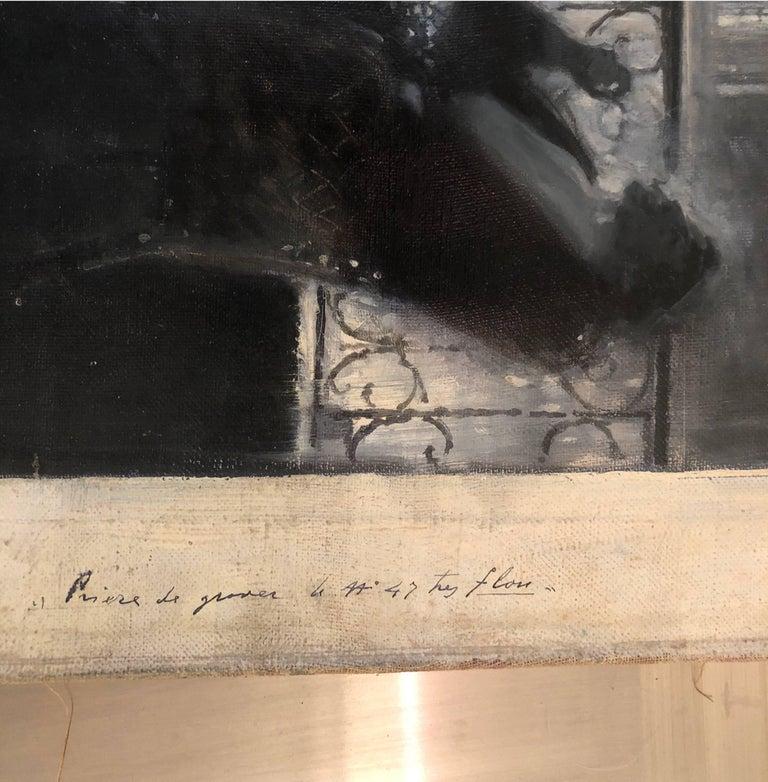 Le Moulin de Nazareth - Black Portrait Painting by Serafino Macchiati