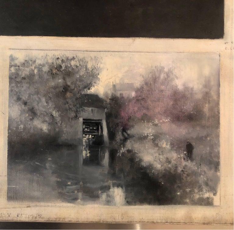 Le Moulin de Nazareth - Post-Impressionist Painting by Serafino Macchiati