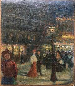 Night in Paris, La Belle Epoque,  circa 1895