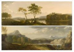 A Pair of Extensive Landscapes by George Lambert in the 18th Century
