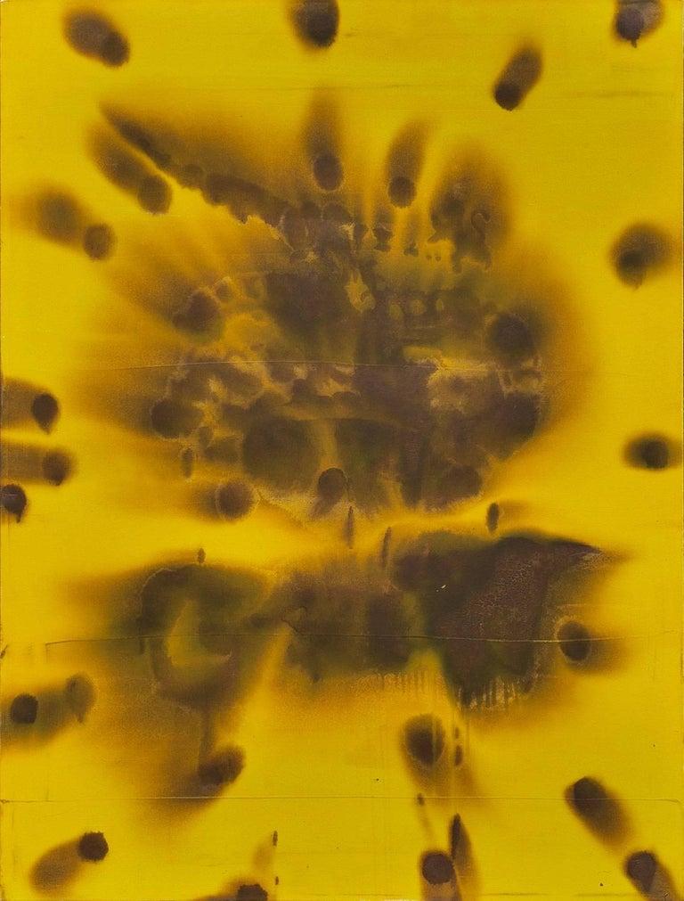 Dirk De Bruycker Abstract Painting - Flood Yellow
