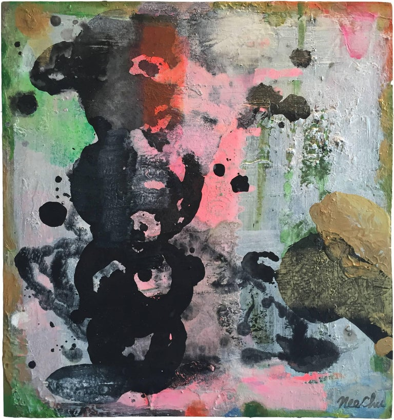 Julia Nee Chu Abstract Painting - Red Loops