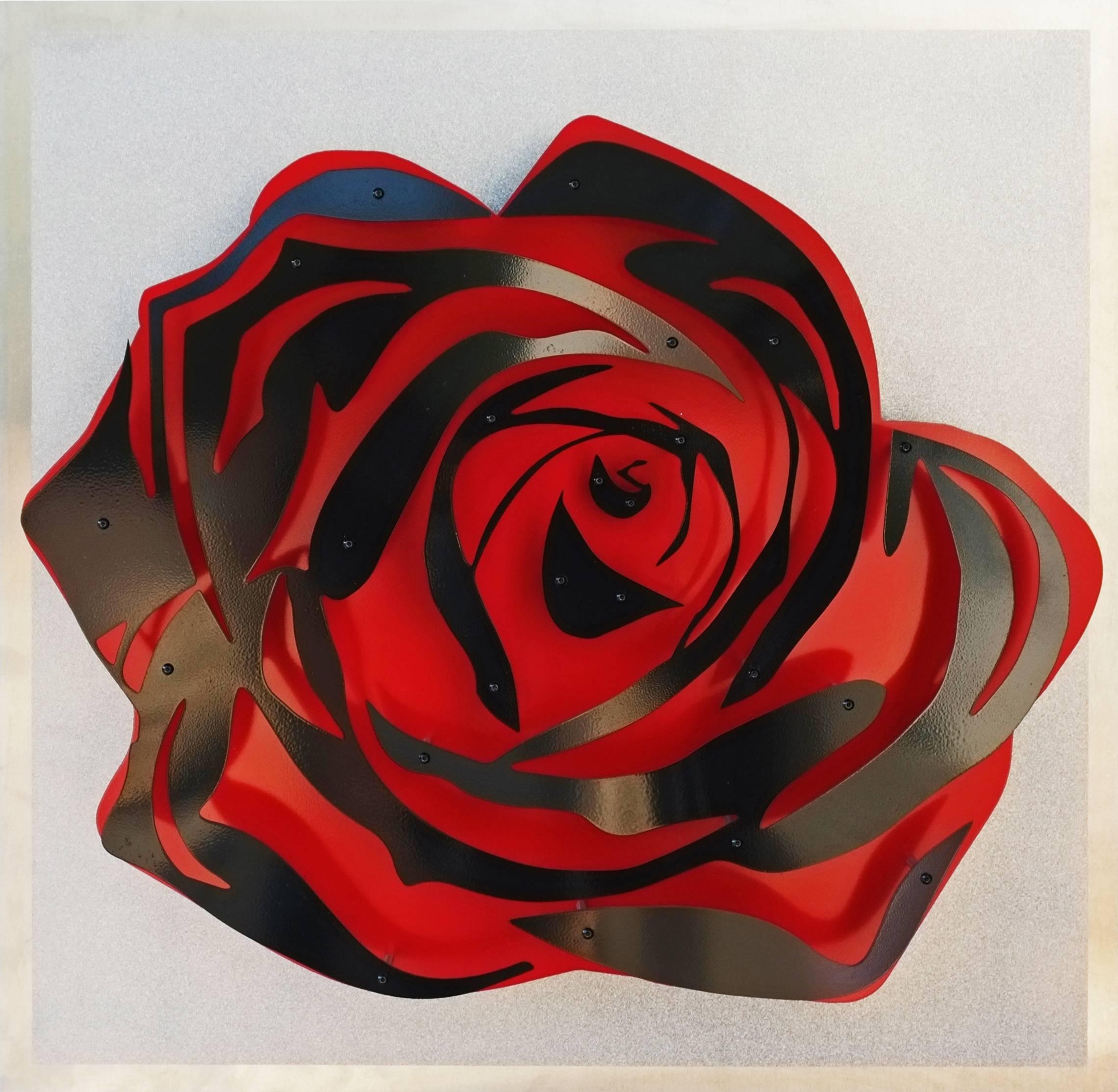 Rose - Black on Diamond Dust