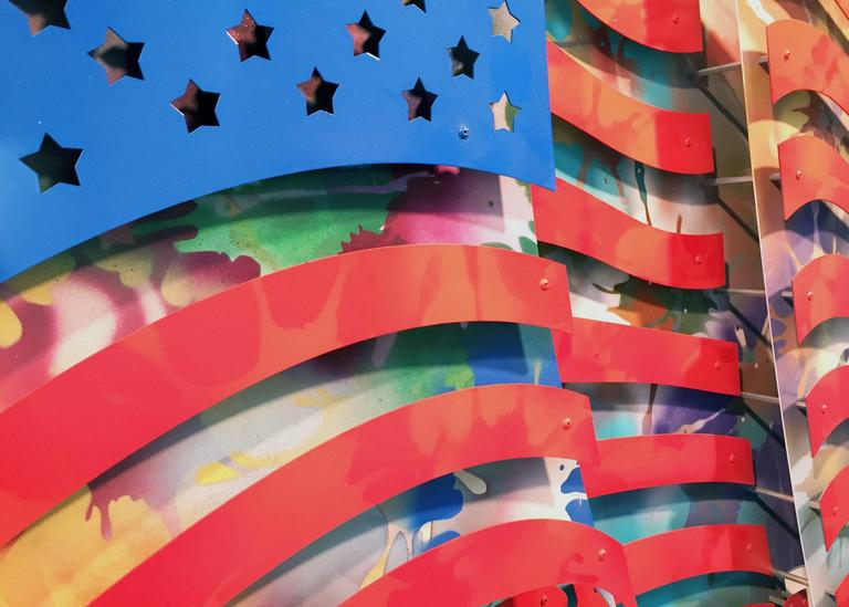 American Flag - Multi Color - Sculpture by Michael Kalish
