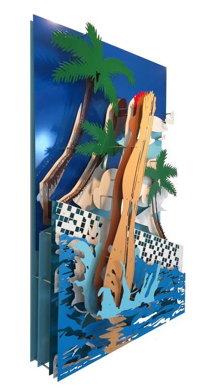 Palm Springs - Pop Art Sculpture by Michael Kalish