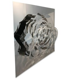 Large Rose - Mirrored Stainless