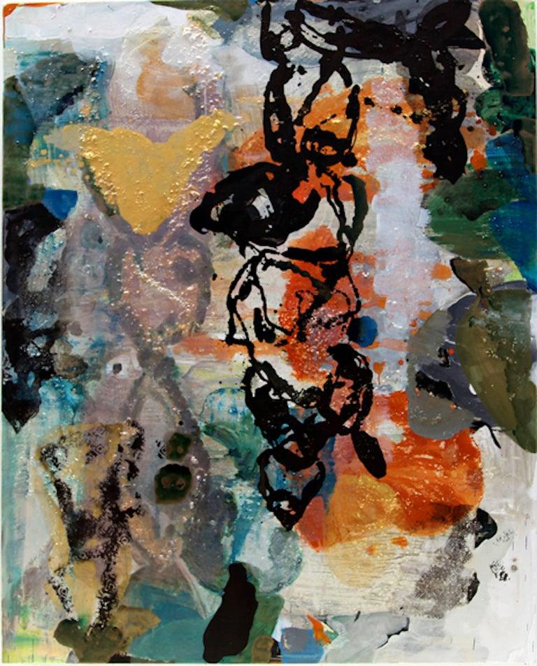 Julia Nee Chu Abstract Painting - Orange Work II