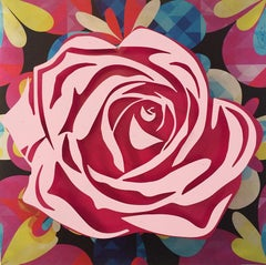 Pink Rose on Kaleidoscope